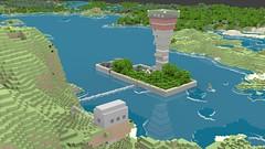 Dave's Island Fortress (Gnu2000) Tags: render blender minecraft mcobj