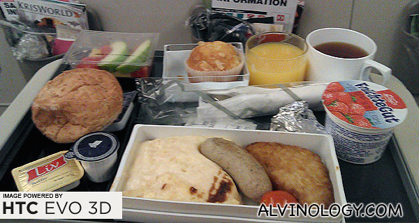 My flight meal