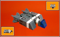 Troop Transporter (Karf Oohlu) Tags: lego spaceship moc militarytransport microscale trooptransport microspacetopia