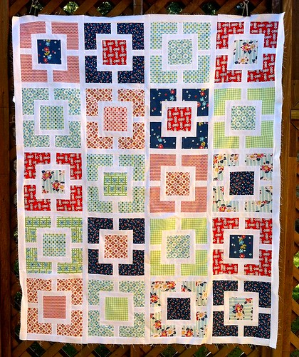 DS Quilts/Garden Fence quilt top