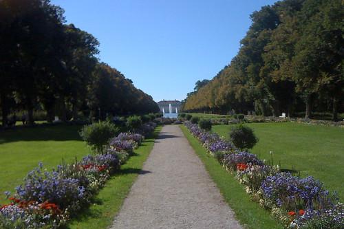 Blick auf das Neue Schloss von Lustheim