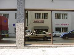 (Protonotarios) Tags: selfportrait k o athens greece l nophotoshop sooc αθήνα straightoutofcamera shotfrominsidethecar λιοσίων casioexilimexfc100