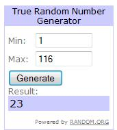 FF September Giveaway Winner