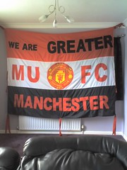 we are greater manchester (mufc flags) Tags: red manchester army united away flags fans banners manchesterunited supporters mufc fcum fcunited icj stretfordend mufcflags