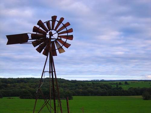 old french windmill by Danalynn C