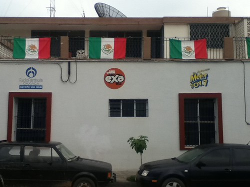The Radio Station's Flags @ Oaxaca 09.2011