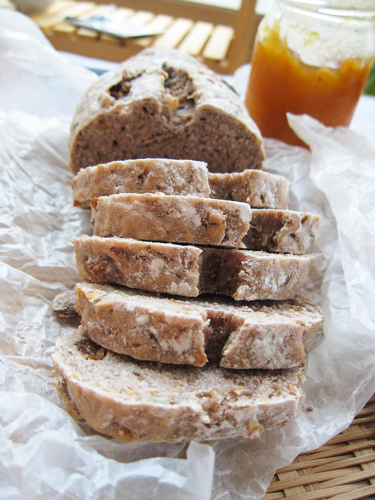 Rustic, nutty, whole wheat bread