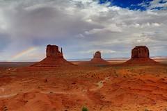 Monument Valley Rainbow (EshwarChandra) Tags: red usa nature rain utah ngc navajo monumentvalley overlook usasouthwest monutmentvalleyrainbow