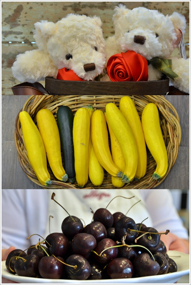 Teddy Bears, Zucchini, Cherries