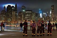 9/11 10th Anniversary Tribute in Light (Shane Woodall) Tags: longexposure newyork brooklyn lights worldtradecenter 911 september wtc fdny tributeinlight brooklynbridgepark 2011 freedomtower canon5dmarkii septenber11th shanewoodallphotography