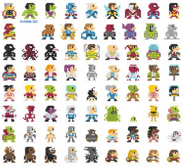 696 personajes al estilo de Mario Bros[8 pixeles] - Taringa!