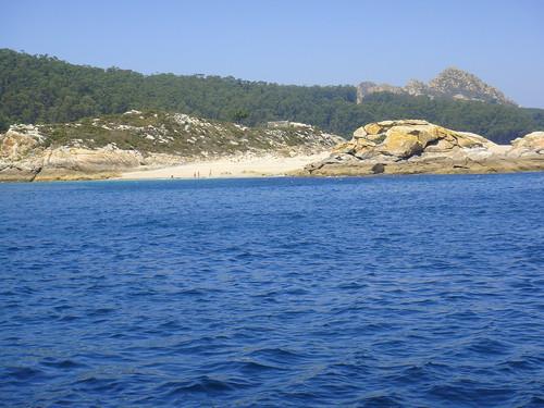 Playa das Margaritas vista desde el mar
