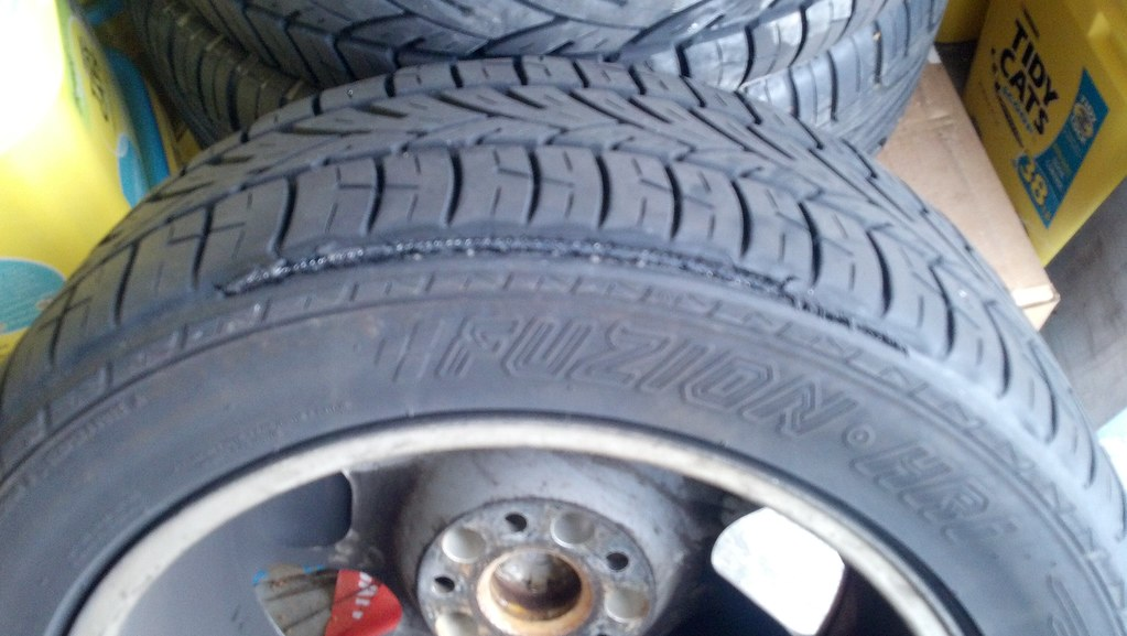Check your tires on both sides!