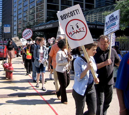 NABET Pickets Hyatt Chicago