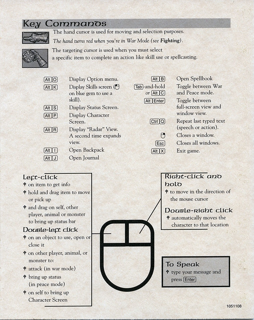 Ultima Online: The Second Age: Player Reference #3