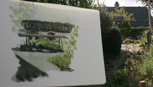 september garden sketching