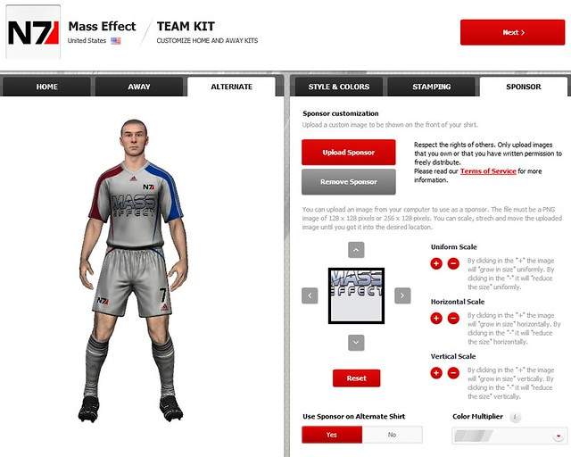 FIFA 12 Creation Centre: Upload Your Own Sponsor Images