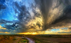 When the Sun Goes Down (Zach Dischner) Tags: sunset panorama clouds canon eos cool colorado colorful dramatic 7d scape landscpae epic hdr canon7d