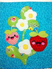 strawberries (okiegirl97) Tags: quilt strawberries kawaii applique