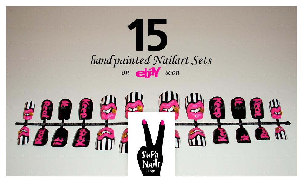 95 Lovers 15 Hand Painted Nail Art Sets On Ebay Supa Nails