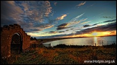 Ruins of St Columbas Church, Aignish, Isle Of Lewis, Scotland (Hotpix [LRPS] Hanx for 1.5M Views) Tags: old autumn sunset sea summer panorama church st stone breakfast island evening scotland bed ruins gate waves dusk pano lewis smith tourist tony harris bb isle joiner hdr tweed stornoway columba lapping hotpix columbas aignish aiginis tonysmith of tonysmithotpix