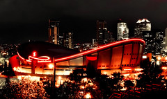 Go Flames Go! (Surrealplaces) Tags: canada calgary hockey saddledome flames arena calgaryflames
