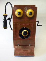 You aint nuthin but a big phony (monsterbrick) Tags: phone lego western windup crank steampunk moc westernelectric