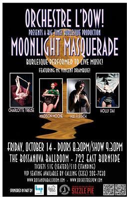 Moonlight Masquerade @ Bossanova Ballroom