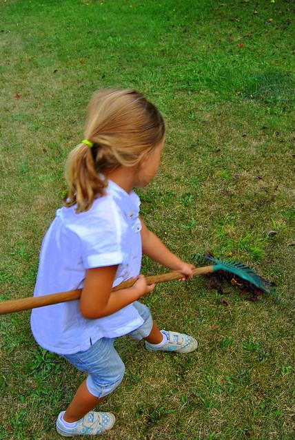 Natalia en el jardín