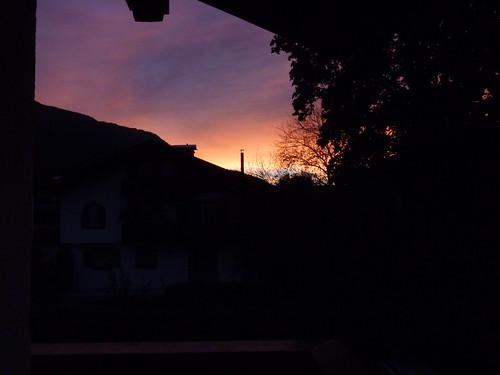Morgendliche Aussicht vom Balkon aus