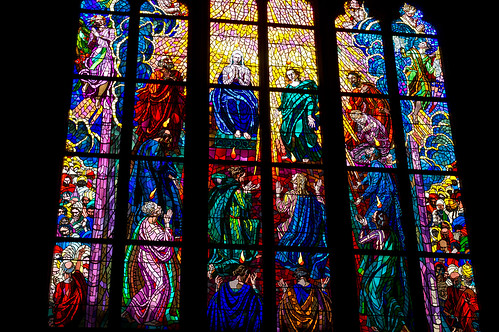 Prague St. Vitus Cathedral Stained Glass windows