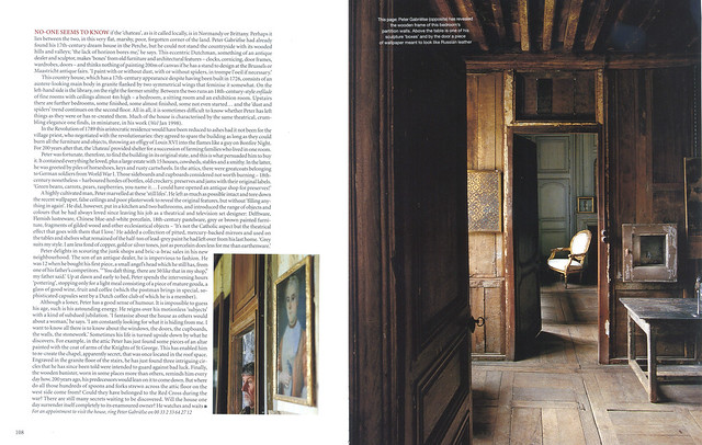 "Le Château in ""World of Interiors"" 2004 July issue- 5"
