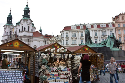 Street Vendors in Prague Old Town Square