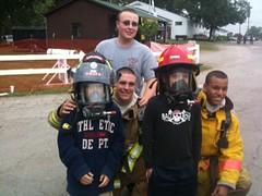Fire Students at the Delaware County Fair