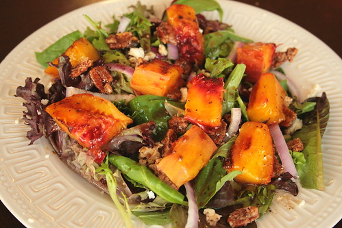 Jolts Amp Jollies Grilled Peach Salad With Candied Pecans