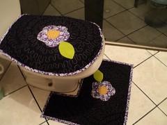 - Jogo de banheiro quiltado preto - (vannaartes) Tags: de jogo banheiro