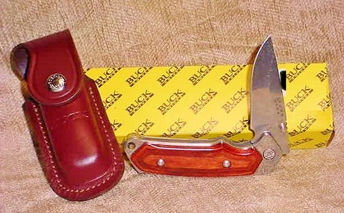 "Buck Folding Alpha Hunter 3-1/2"" Blade, Rosewood Handles"