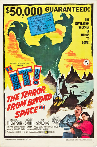 IT! THE TERROR FROM BEYOND SPACE (1958) one sheet
