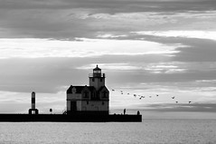 Kewaunee Lighthouse Fly By