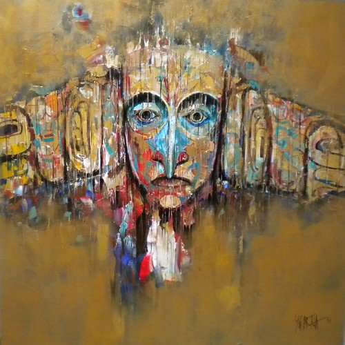 Native Seduction - Painting - Modern Expressionism