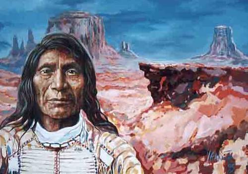 Sitting Bull - Orignal Painting - Realsim