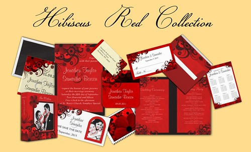 To see the entire red hibiscus wedding collection click on the image below