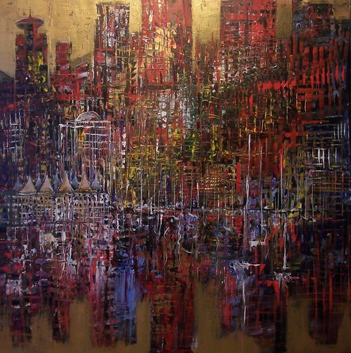 City Vancouver, Pan Pacific - Painting - Abstract