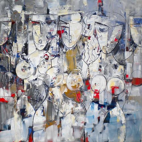 Les Femmes Fatales - Painting - Cubism
