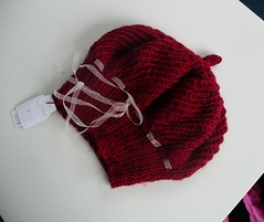 Laced red hat
