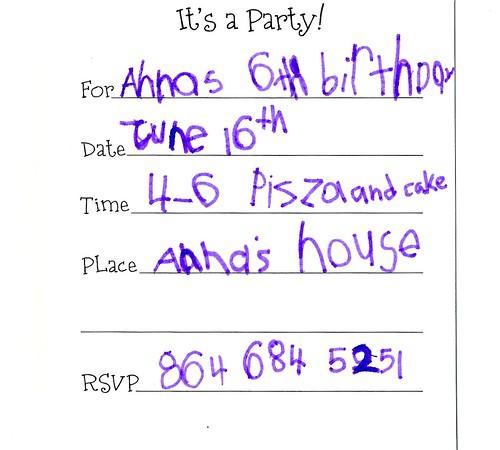 Anna's 6th bday
