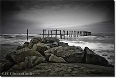 Fierce (Jay Cassario) Tags: ocean longexposure storm broken water fog landscape pier newjersey fishing nikon rocks surf waves nj sigma rainy oceancity 1020mm 59thstreet d90