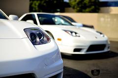 Two is better than one. (DAVID IZRAILOV) Tags: auto white cars honda photography championship nikon f14 sigma nsx 30mm d7000 ltbmw