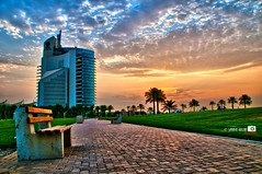 KPC Building HDR (Shahbaz Hussain's Photography) Tags: city trees light sunset sea sky brown white black color reflection green art love water colors grass night clouds dark lens lights photo nice nikon focus niceshot with view image royal arab falcon shutter inside kuwait 300 18200 hdr q8 hussain kpc shahbaz flickraward ringexcellence musictomyeyeslevel1