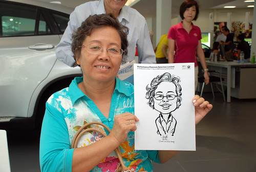 Caricature live sketching for Performance Premium Selection first year anniversary - day 3 - 26